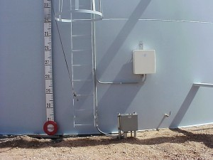 Sacrificial Anode Test Station in White UV Resistant FRP Enclosure Externally Mounted on a Tank