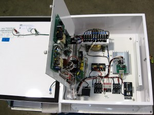 CP Sentinel Aqua-Line Rectifier-Open Panel Showing Automatic Controller and Manual Tap Adjustment