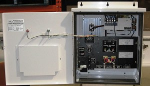 C.P. Sentinel Rectifier in White Benchmark Air Series Enclosure with Alarm Status Lamps