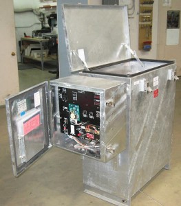 C.P. Sentinel Rectifier in Hot-Dipped Galvanized Advantage Oil Series Enclosure with Instrument End-Housing Enclosure